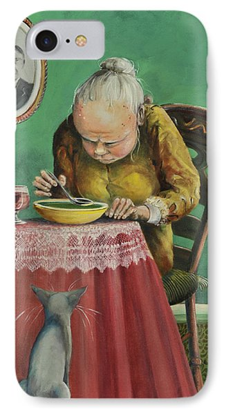 Pea Soup And Cabernet Phone Case by Shelly Wilkerson