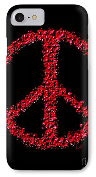 Peace ? IPhone Case by Sergio B