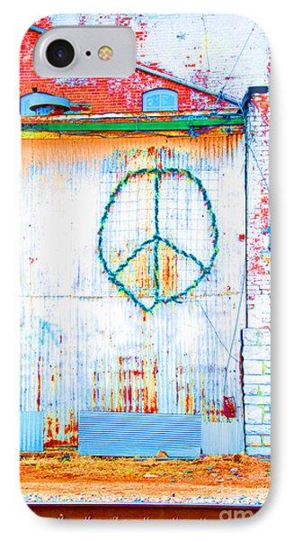 Peace 3 IPhone Case by Minnie Lippiatt