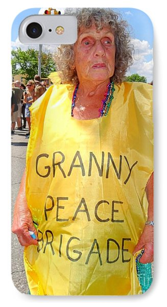 IPhone Case featuring the photograph Peace Granny by Ed Weidman