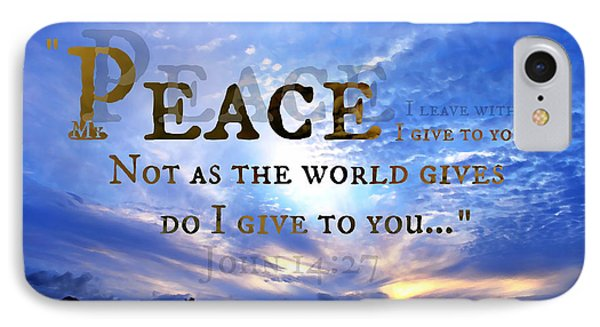 Peace I Give To You IPhone Case by Sharon Soberon