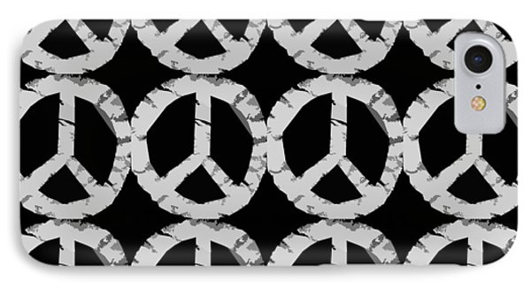 Peace In Black And White Phone Case by Michelle Calkins