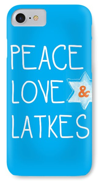 Peace Love And Latkes IPhone Case