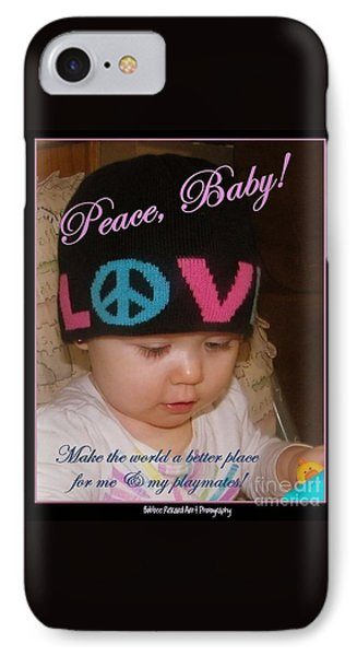 Peace N Love Baby IPhone Case by Bobbee Rickard