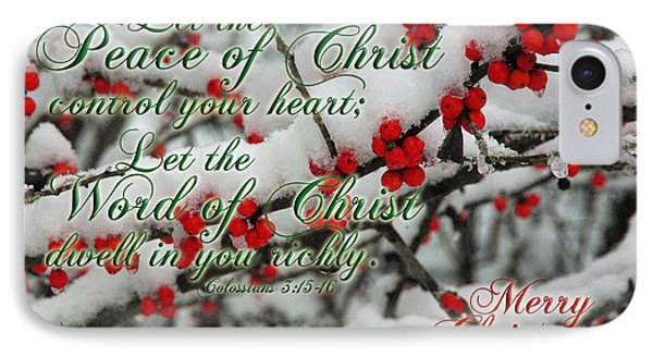 Peace Of Christ Holly IPhone Case by Robyn Stacey
