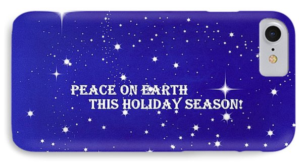 Peace On Earth Card IPhone Case by Kathy Barney