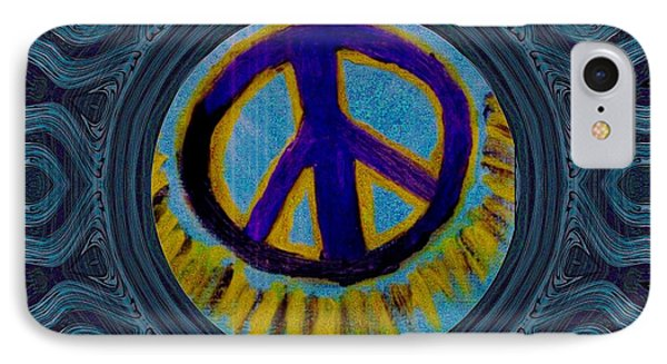 Peace On In Collage Style IPhone Case