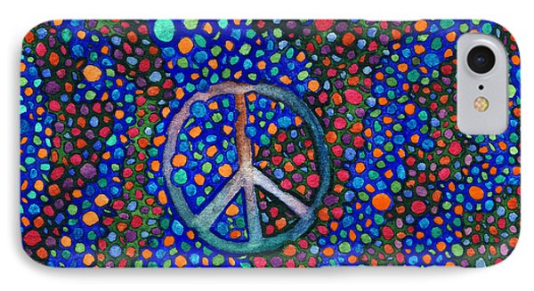 Peace Sign IPhone Case by Janice Dunbar