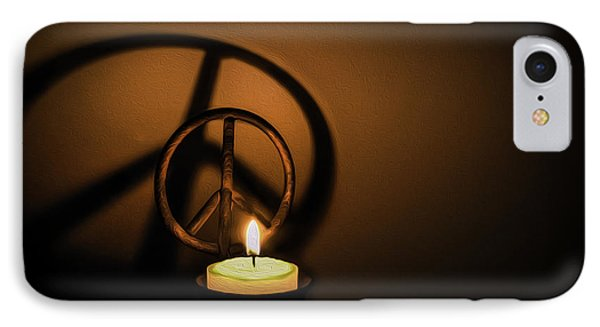 Peace Symbol Candle  IPhone Case