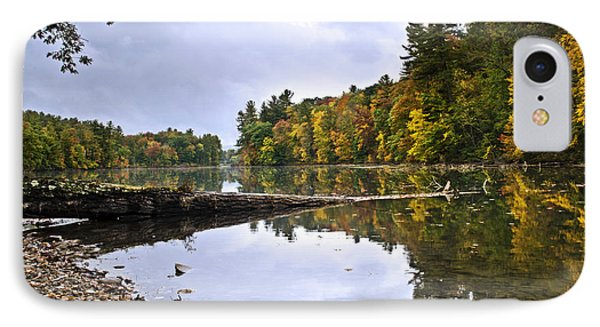 Peaceful Autumn Lake Phone Case by Christina Rollo