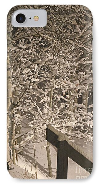 IPhone Case featuring the photograph Peaceful Blizzard by Fiona Kennard
