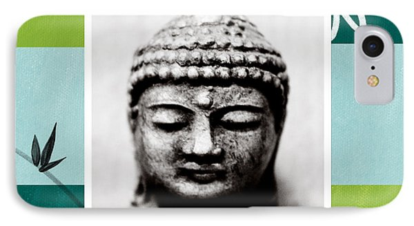 Peaceful Buddha- Zen Art IPhone Case by Linda Woods