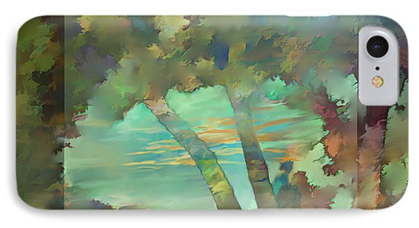IPhone Case featuring the digital art Peaceful Dawn by Ursula Freer