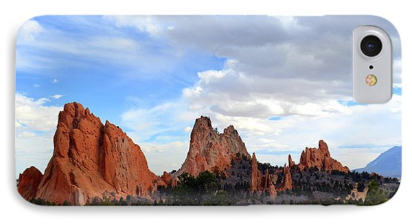 Peaceful Day In Garden Of The Gods IPhone Case by Clarice  Lakota