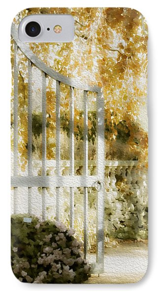 Peaceful English Garden IPhone Case by Julie Palencia