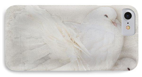 Peaceful Existence White On White IPhone Case by Barbara McMahon