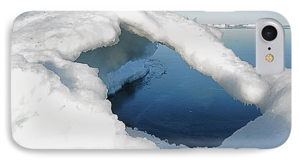 Peaceful Lake Superior Ice Arch  Phone Case by Sandra Updyke