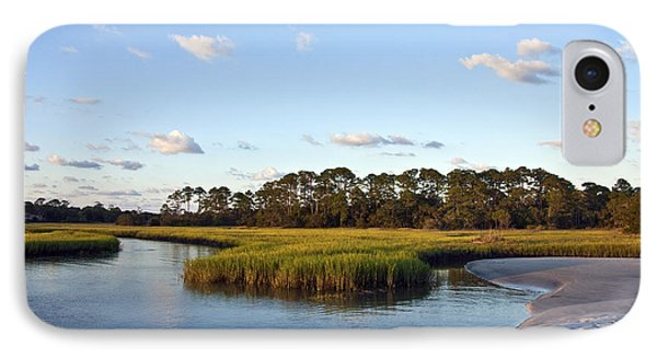 IPhone Case featuring the photograph Peaceful Marsh by Paula Porterfield-Izzo