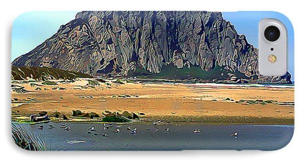 Peaceful Morro Rock IPhone Case by Wernher Krutein