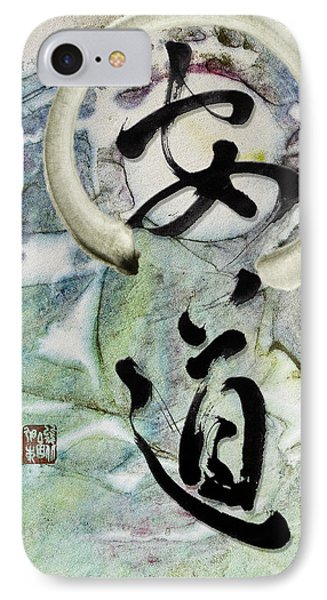 Peaceful Path With Enso IPhone Case by Peter v Quenter