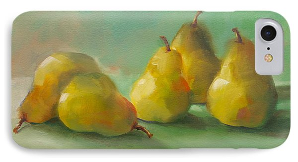 Peaceful Pears IPhone Case by Michelle Abrams