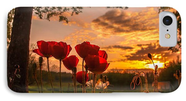 Peaceful Poppy IPhone Case by Rose-Maries Pictures