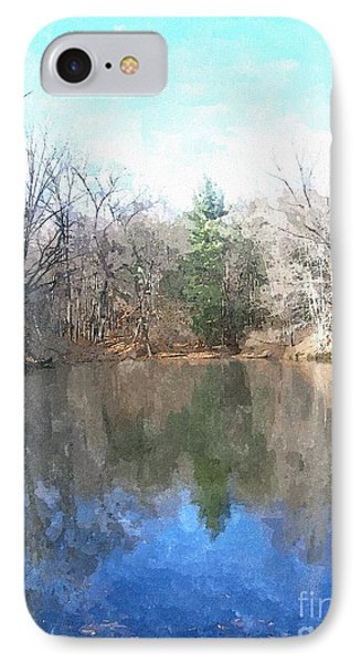 IPhone Case featuring the painting Peaceful Retreat 2 by Sara  Raber