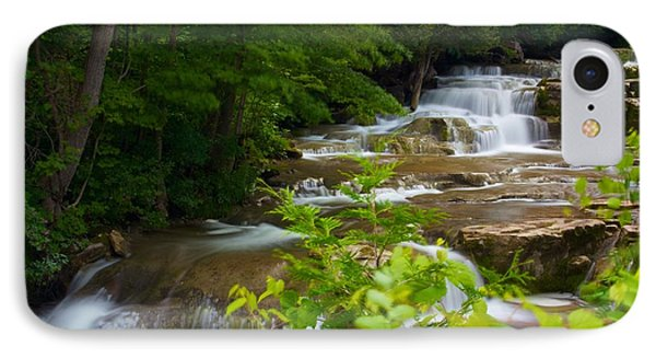 Peaceful Stockbridge Falls  IPhone Case by Dave Files