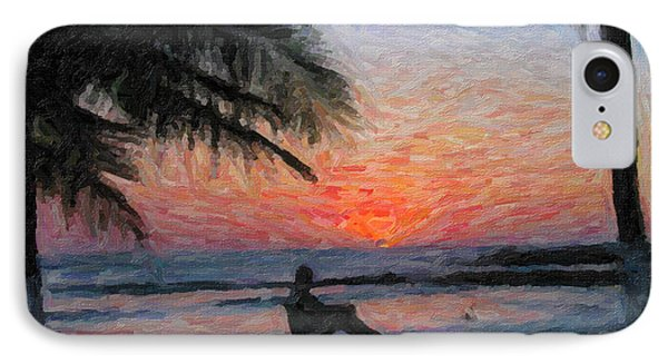 Peaceful Sunset IPhone Case by David Gleeson