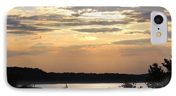 IPhone Case featuring the digital art Peaceful Sunset by Lorna Rogers Photography