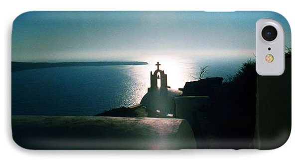 IPhone Case featuring the photograph Peaceful Sunset Santorini Island Greece by Colette V Hera  Guggenheim