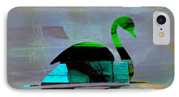 Peaceful Swan On A Lake IPhone Case by Marvin Blaine