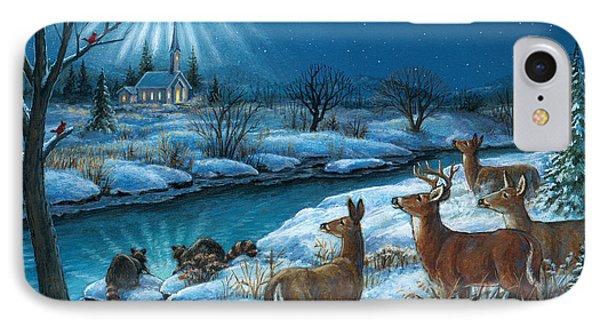 Peaceful Winters Night IPhone Case