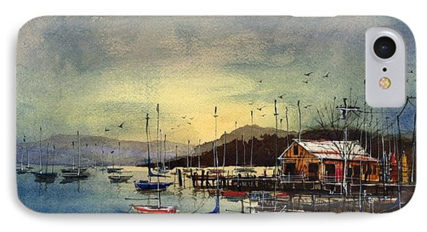 IPhone Case featuring the painting Peacefully Moored by Tim Oliver