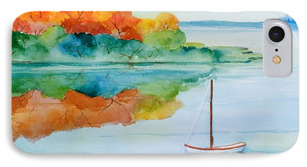 Peacefully Waiting Watercolor IPhone Case by Michelle Wiarda