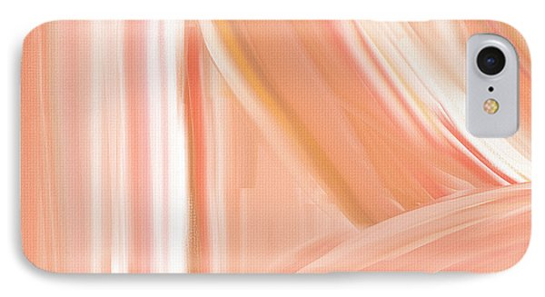Peach Accent IPhone Case by Lourry Legarde