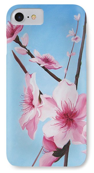 Peach Blossoms Phone Case by Mary Rogers