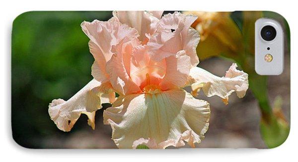 Peach-colored Iris Phone Case by Karen Adams