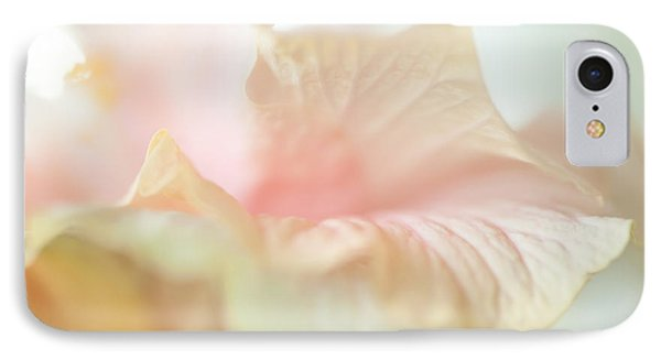 Peach Delicacy. Hibiscus Macro Phone Case by Jenny Rainbow