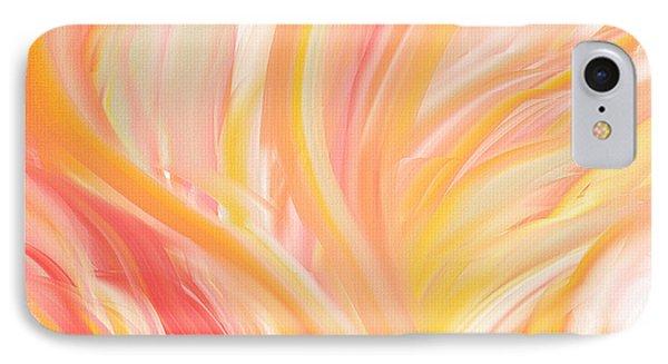 Peach Flare IPhone Case by Lourry Legarde