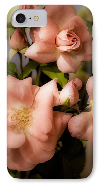 Peach Floribunda Roses Phone Case by Julie Palencia