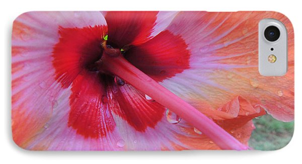 Peach Hibiscus IPhone Case by Kristine Merc