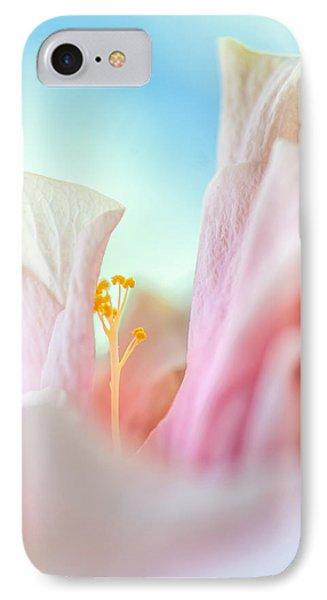 Peach Hibiscus. Macro Phone Case by Jenny Rainbow
