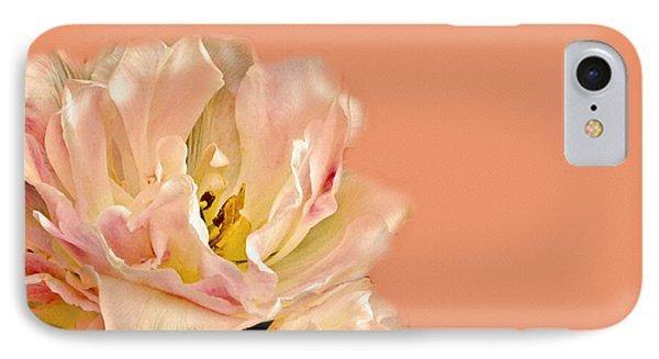 Peach Rose Phone Case by Carol F Austin