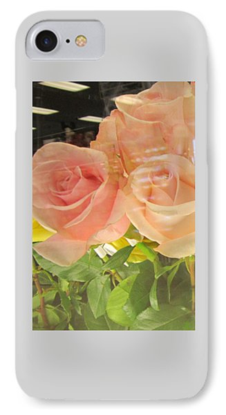 Peach Roses In Greeting Card IPhone Case
