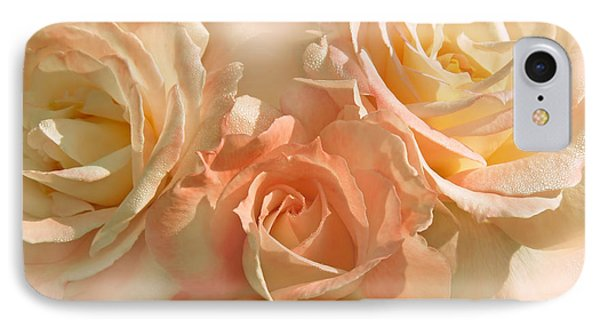 Peach Roses In The Mist Phone Case by Jennie Marie Schell