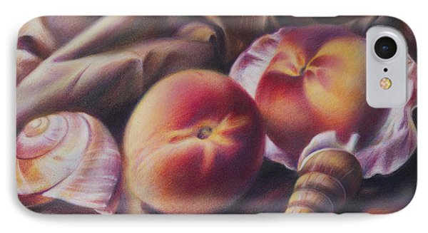 Peaches And Seashells Phone Case by Nathalie Beck