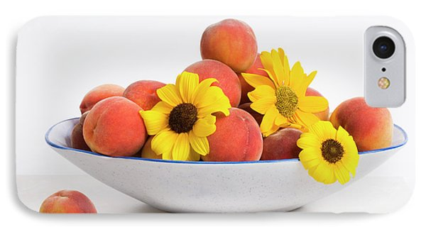 Peaches And Sunflowers Phone Case by Diane Macdonald