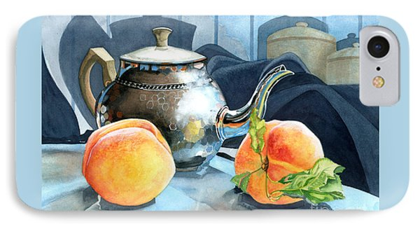 Peaches And Tea Phone Case by Barbara Jewell