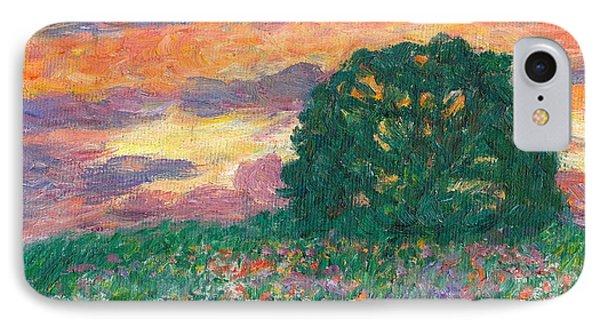 Peachy Sunset Phone Case by Kendall Kessler